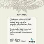 WCCMT Testimonials