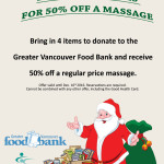50% off Massage with Food Bank Donations