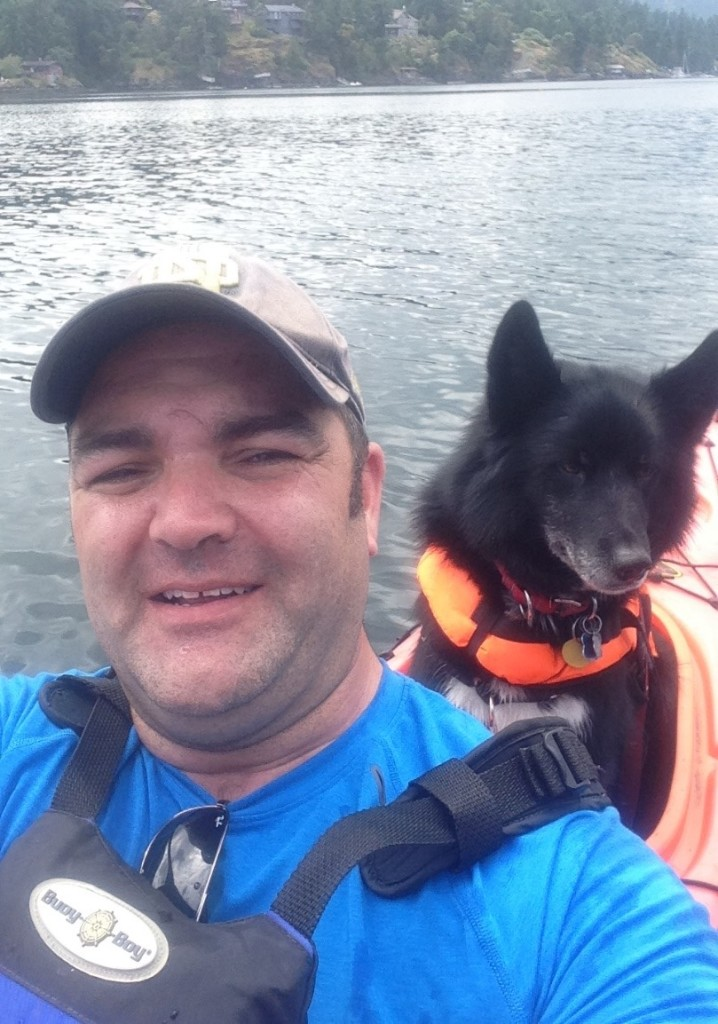 Jason and his Medical Service Dog, Cheeko Boy, who accompanies him to classes and clinic.